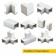 25 x 16 PVC Mini Cable Trunking Shapes Connectors for Energy and Data Cables