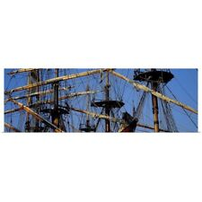 Poster Print Wall Art entitled Rigging of a tall ship, Finistere, Brittany,