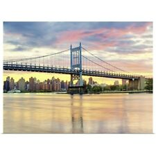 Poster Print Wall Art entitled Triboro Bridge taken from Astoria Queens NYC