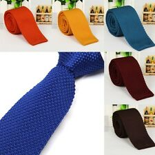 Chic New Men's Solid Tie Knit Knitted Tie Plain Necktie Narrow Slim Skinny Woven