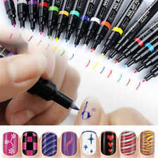 Neu Nail Art Pen Nagellackstift Nagel Stift Gel Liner Lackmalstift 16 Farben DIY