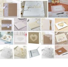 Wedding Guest Book - White, Silver, Ivory, Gold - Vintage Party Celebration