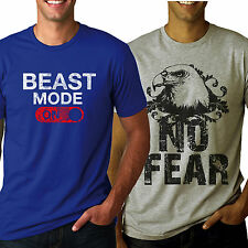 Tshirt Combo ( Beast Mode On & No Fear ) Tshirts For mens