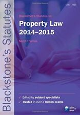 Blackstones Statutes on Property Law 2014-2015 (Blackstones Statute Series), , U