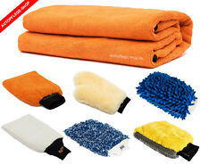 Delirium Orange Towel Microfaser Trockungstuch + optional Profi WaschHandschuh