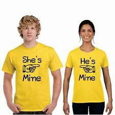 Giftsmate Hes Mine Shes Mine Men Women Drifit Couple t-shirts, Love Gifts