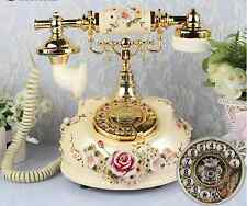 Rotary Retro Vintage 1920's Style Cord Telephone Home Phone Landline Floral