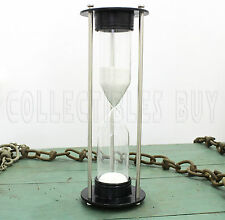 Maritime Functional brass sand timer white sand collection vintage Decorative