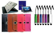 "360 Degree Universal Flip Pouch Book Cover for Samsung Galaxy Tab 7"" +PEN STYLUS"