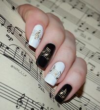 HBJY193 HBJY198 Adesivi unghie NOTE MUSICALI nail art MUSICAL NOTES stickers