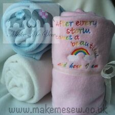 AFTER EVERY STORM RAINBOW NEW BABY HOSPITAL BAG BLANKET - IVF or MISCARRIAGE
