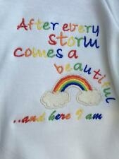 AFTER EVERY STORM RAINBOW BIB - NEW BABY HOSPITAL BAG BIB - IVF or MISCARRIAGE