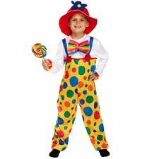 CHILDRENS BOYS DELUXE CLOWN FANCY DRESS COSTUME KIDS PARTY BOOK WEEK HAT OUTFIT