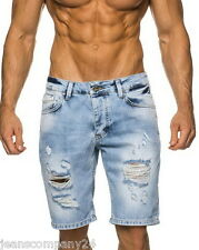 Leif Nelson Jeans Short Bermuda Denim Style kurze Hose Capri Beach Destroyed
