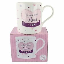 LP33459 LESSER AND PAVEY I LOVE YOU MUM FINE CHINA CUORI DECORATO TAZZA REGALO