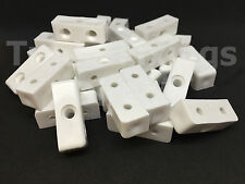White Modesty Bolcks Furniture, Cabinet & Cupboards Joint Connector Blocks Fixit