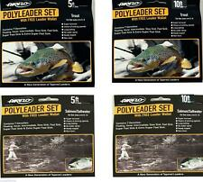 Airflo Poly Leader Set 5ft / 10ft Trout or Salmon/Saltwater + Free Wallet