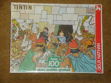 Tintin Puzzle - 100 pieces with poster - Prisoners of the Sun - new.