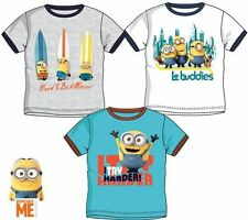 New boys licensed Despicable Me Minions summer t-shirts short sleeve crew neck