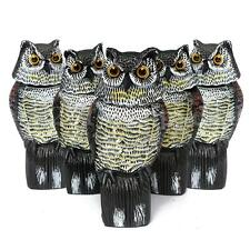 1/2/5/10pc Large Realistic Owl Decoy Rotating Head Weed Pest Control Crow Scarer