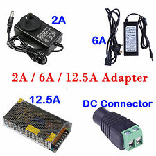 Power Supply AC100-240V To DC12V Adapter plug for 3528 5050 5630 LED Strip Light