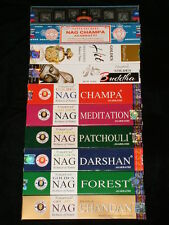 INCENSO PROFUMATORE AMBIENTE GOLDEN NAG CHAMPA DARSHAN CHANDAN FOREST HIT INDIA