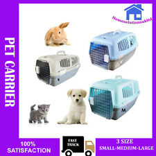 PET CAT DOG RABBIT KITTEN CARRIER KENNEL FOLDABLE TRAVEL TRANSPORT CAGE VET S/M/