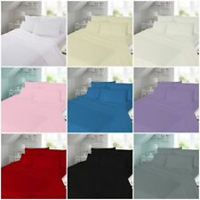 100% Brush Cotton Thermal Flannelette Duvet Cover Deep Fitted Sheet Cot 4Ft