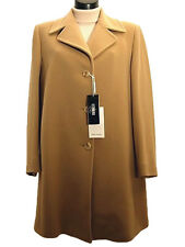 Cappotto donna COVERI tg 48 52 Lana Cashmere Cammello Corto Italy New Wool Coat