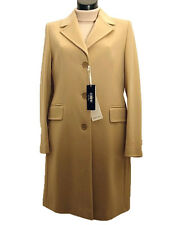 Cappotto donna COVERI tg. 52 Lana Vergine Beige Made in Italy New Wool Coat