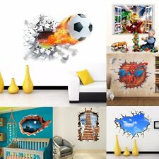3D Widow Wall Sticker Vinyl Nursery Decal Room Background Decor Mural Removable