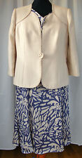 JACQUES VERT CORNFLOWER & MAIZE RANGE CORNFLOWER ABSTRACT DRESS MAIZE JACKET T1A