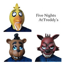 fnaf halloween costume five nights at freddys chica foxy fazbear mask new