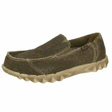 """HEY DUDE """"FARTY"""" MENS CANVAS SHOES. CHOCOLATE. UK 7-12"""