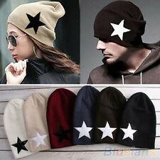 unisex Star print Warm Skull Beanie Hip Hop Knit Cap Ski Crochet Cuff winter hat
