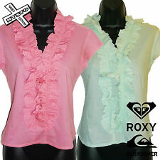 QUIKSILVER ROXY 'GROOVE ARMADA' WOMENS CAPPED SLEEVE SHIRT PINK GREEN UK 10 BNWT