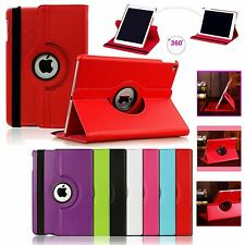 360° Leather Pu Rotate Smart Stand Case Cover For Various Apple iPad Models UK