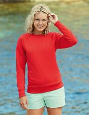 Lady-Fit Lightweight Raglan Sweatshirt / Pullover | Fruit of the Loom