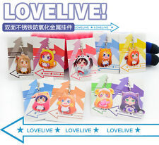 LoveLive! Love live school idol project Anime Cute Animal Metal keychain Collect