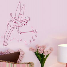 Fairy & Wand Fairy Wall Sticker / Room Wall Decal / Angel Wall Transfer  nin14