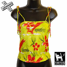 MAMBO 'RIO RITA' WOMENS TOP SLEEVELESS STRAPPY GREEN UK 8 12 14 BNWT RRP £30