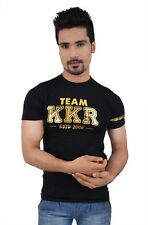 Kolkata Knight Riders Team KKR Black Gold Foil T-Shirt(KKR016)