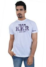 Kolkata Knight Riders White Round Neck T-Shirt(KKR012)