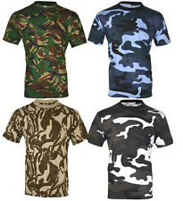 MENS MILITARY CAMOUFLAGE T SHIRT CAMO ARMY COMBAT NEW S-2XL