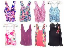 Candie's V Neck Ruffle Tops Cami Tops Pleated Tops NWT$34-$38 Size XS-XL