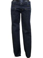 Jeans donna Massimo Danieli Tg. W28 IT 42 Blu Denim Stretch Vita bassa New