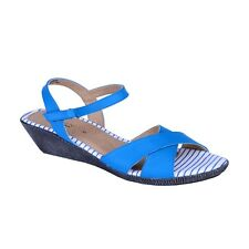 Khadim's Sharon Blue Wedge Womens Sandal