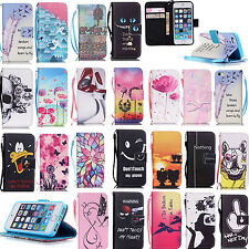 pu leather wallet case stand flip cover for apple itouch iphone 6S 5S SE Phone
