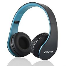 Ecandy Bluetooth Wireless Over-ear Stereo Headphones Wireless/Wired Headsets ...