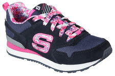 SKECHERS FLORAL FANCIES 84201L KIDS - BLUE MULTI TRAINERS